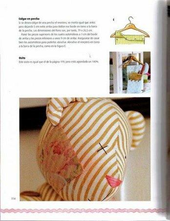 """Мишка в стиле тильда. Фрагмент книги """"Labores decorativas para la casa"""""""