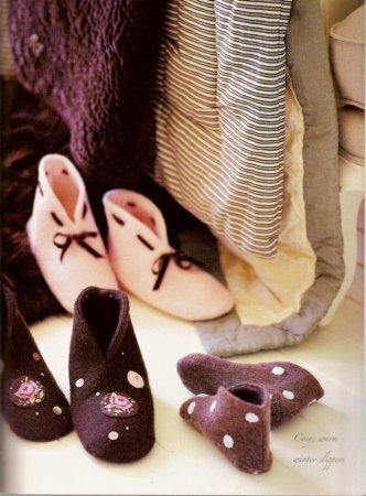 Тапочки-бурочки в стиле тильда
