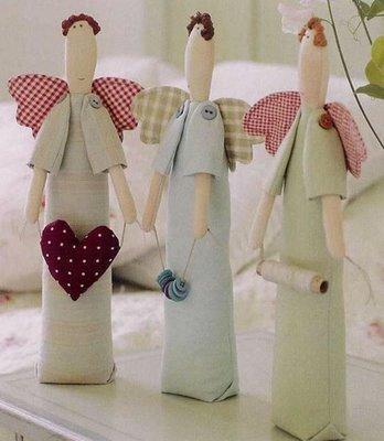 Ангел в стиле Тильда: выкройка куклы для шитья