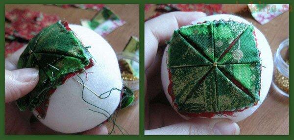 Как сделать шар артишок