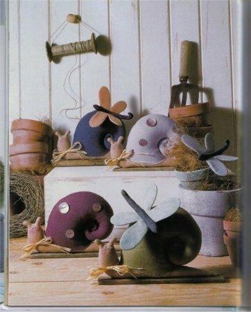 Тильда улитка: выкройка мягкой игрушки для шитья