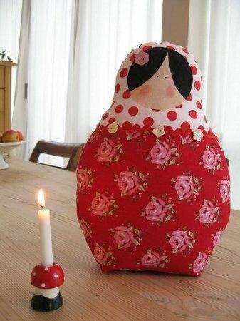 Матрешка в стиле Тильда: выкройка мягкой игрушки для шитья