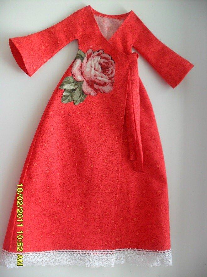 Платье сшить для куклы тильда