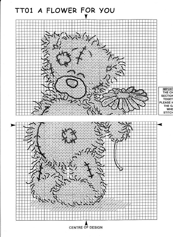 схема вышивания мишка тедди рождество