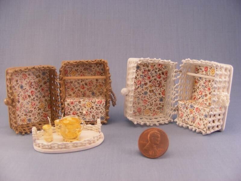 Плетёная мебель для кукол своими руками 23