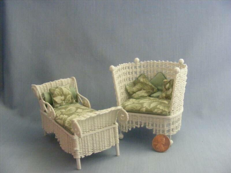 Плетёная мебель для кукол своими руками 26