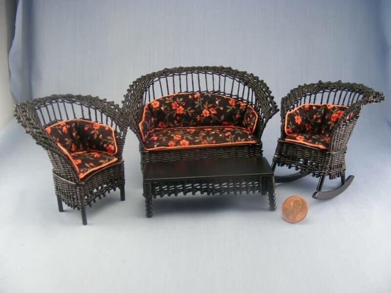Плетёная мебель для кукол своими руками 72