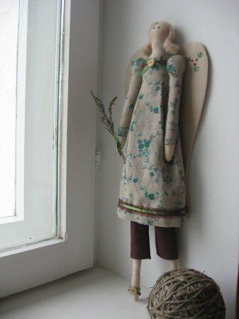 Тильда Винтажный ангел: выкройка и мастер класс по шитью куклы от Анастасии Коломакиной