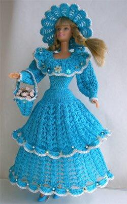 Барби. Вязание крючком. Куклы Барби. Схемы вязания и фото одежды