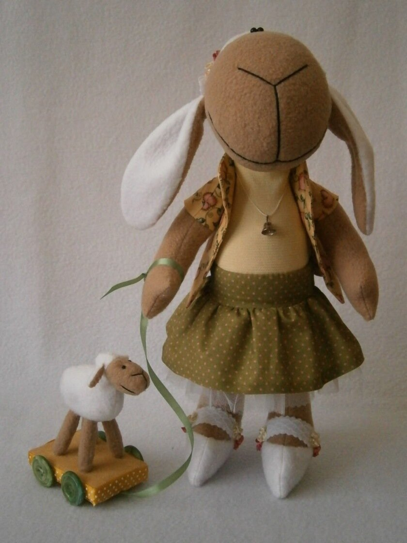 выкройки новогодних овечек из флиса
