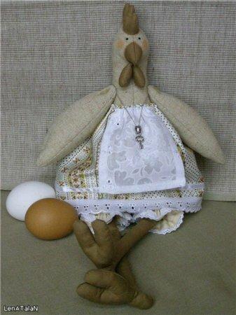 Тильда Курочка: выкройка и мастер класс по шитью мягкой игрушки