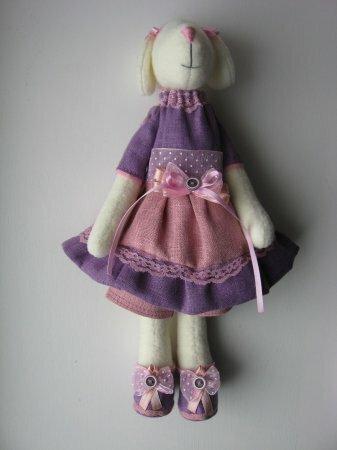 Тильда Собачка: выкройка и мастер класс по шитью игрушки от Анастасии Коломакиной