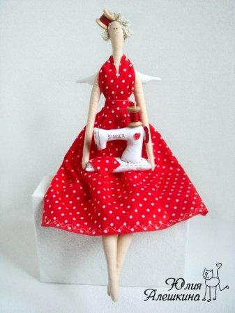Тильда Швейный Ангел: мастер класс по шитью куклы от Юлии Алешкиной