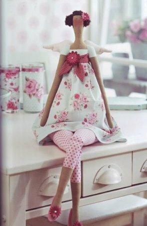Тильда FlowerGarden Angel: выкройка куклы для шитья