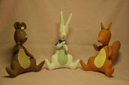 Тильда Мышка, Зайчик и Белочка: мастер класс по шитью мягких игрушек