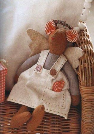 Тильда Мышка: выкройка мягкой игрушки от автора Яны Яхиной
