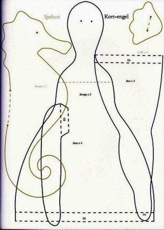 Морской Конек, Морская Звезда и Ракушка – выкройки