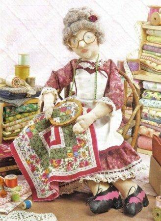 """Выкройка текстильной куклы """"Рукодельницы"""""""