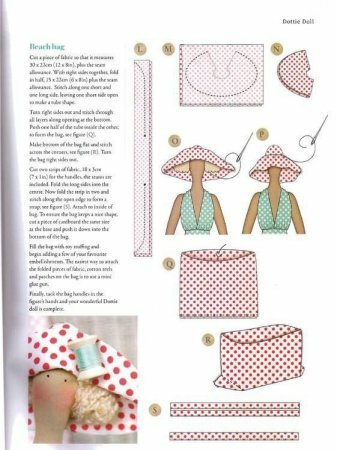 Tilda Boneca Dottie da revista «ideias Tilda caseiros».  Master class