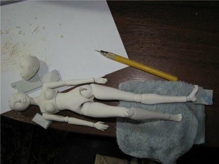 Как сделать шарнирную куклу своими руками в домашних условиях видео