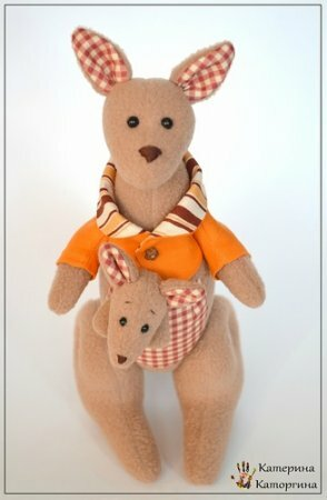 Тильда Кенгуру: выкройка и мастер класс по шитью мягкой игрушки