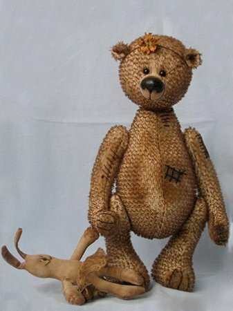 """Выкройка куклы медведя и зайца """"пипо"""""""