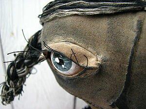 Живые Глаза тряпичной кукле из обычной Муки. Мастер-класс.