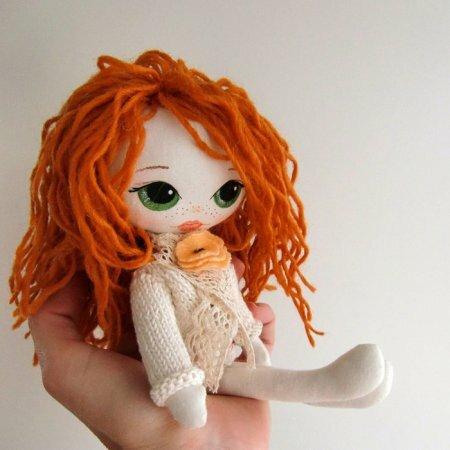 Кукла с вышитым лицом. Мастер-класс.