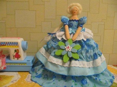 Тильда на чайник: выкройка куклы для шитья