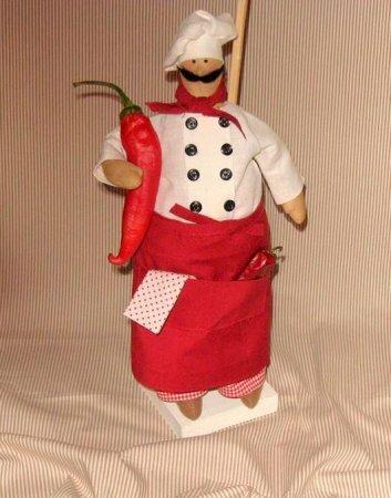 Тильда повар: мастер-класс по шитью куклы