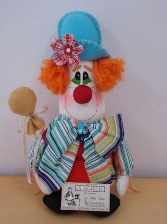 Примитивная кукла Рыжий клоун. Выкройка