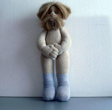 Кукла домовой из носков своими руками. Небольшой мастер-класс.