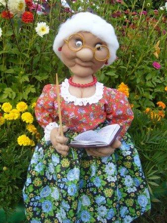 Текстильная кукла Мари Васильна. Мастер-класс.