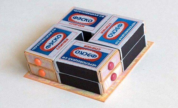 Комодик из спичечных коробков.