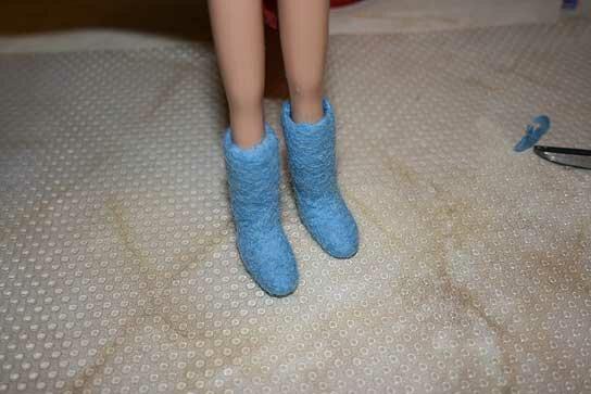 Как сделать валенки для кукол в домашних условиях