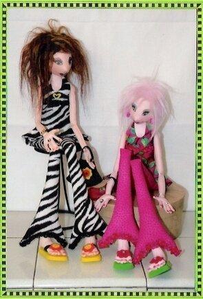 Текстильные куклы модницы. Выкройка