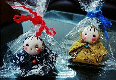 Традиционная японская куколка из ткани. Мастер-класс