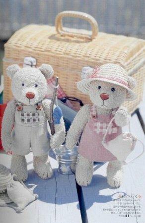 Медведи Миша и Маша. Выкройка плюшевых игрушек