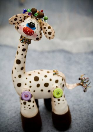 Выкройка мягкой игрушки жирафа