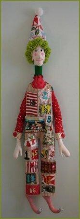 Текстильная кукла клоун. Выкройка