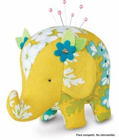 Разноцветные текстильные слоники. Выкройки