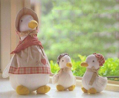 """""""Мама утка и утята"""" - текстильные игрушки. Выкройки"""