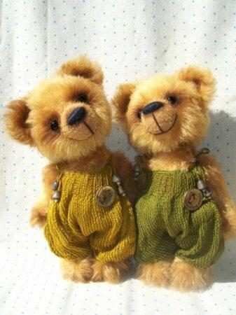 Мишки тедди Лимончик и Лаймик. Выкройки