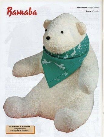 Медвежонок тедди Барнаби. Выкройка