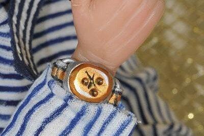 Наручные часы для куклы. Мастер-класс по изготовлению.