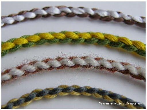 Плетение из ниток пледов