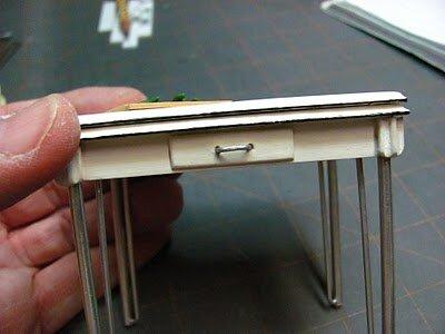 Кукольная мебель → как сделать стол