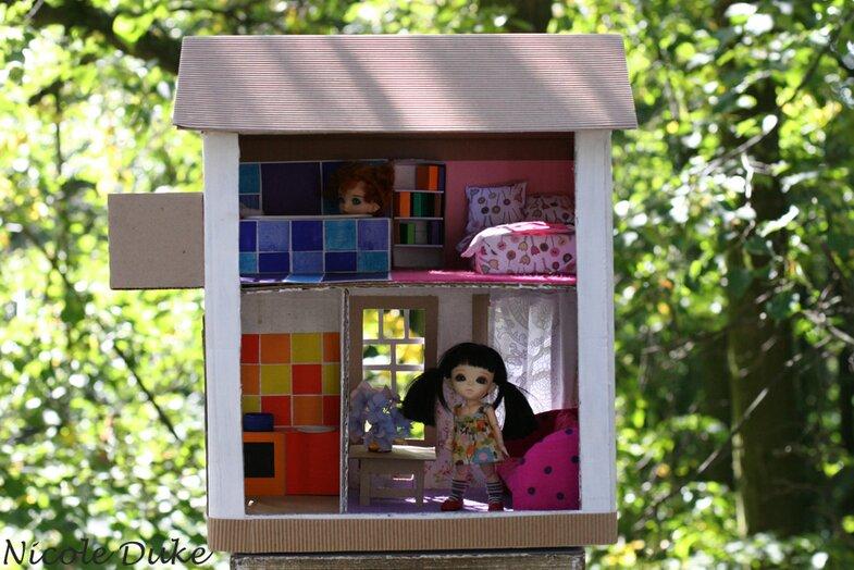 Мастер класс кукольный домик из коробки своими руками 92