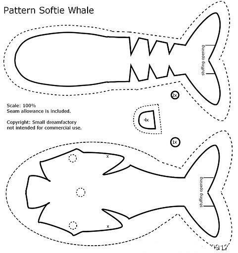 Выкройки кита своими руками