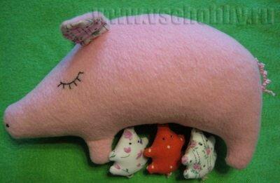 Мягкая игрушка свинья. Мастер-класс